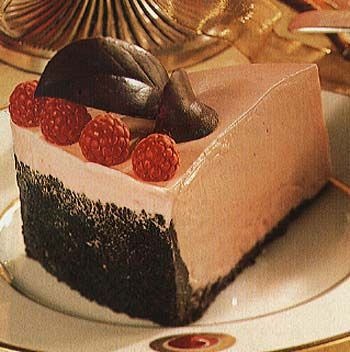 Frozen White Chocolate and Raspberry Mousse Torte Recipe | Epicurious ...