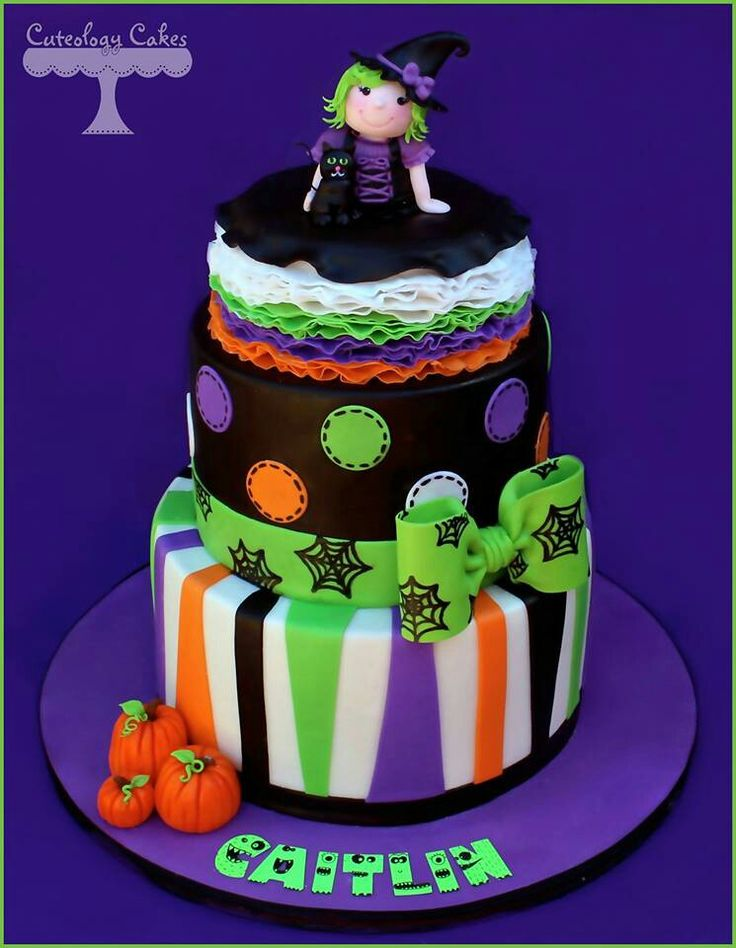 Witch cake amazing cakes pinterest Cute easy halloween cakes