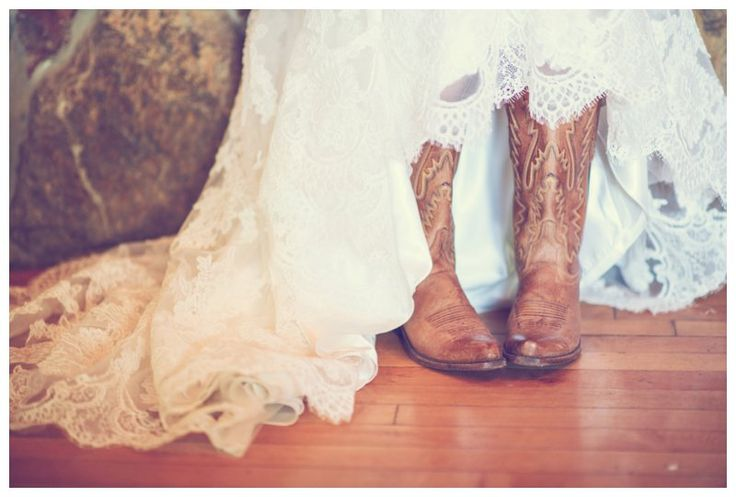 Southern bride in cowgirl boots | photo by http://www.westonneuschafer.com | see more http://www.thebridelink.com/blog/2013/09/23/rustic-fall-wedding-in-california/