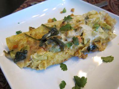Just Eats: Roasted Shrimp Enchiladas with Green Chile Cream Sauce