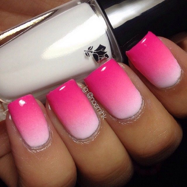 Pink ombre nails
