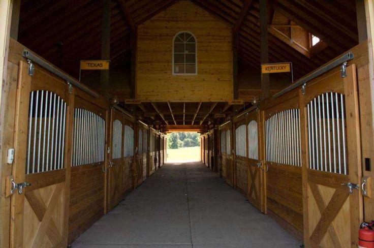 Interior horse barn | First Class Living horse stalls ...