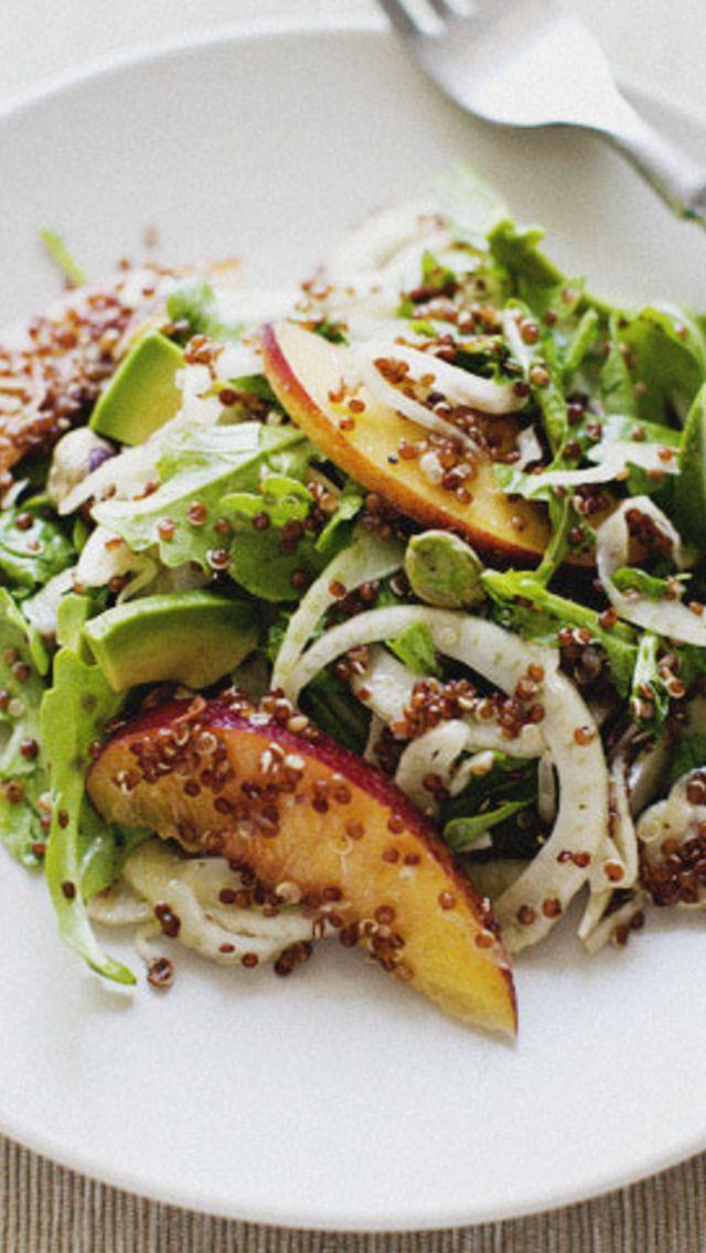 Nectarine and Fennel Salad | Plain or complex salads | Pinterest