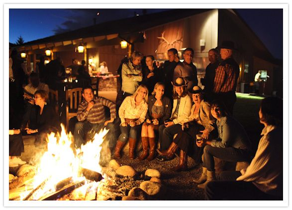 Bonfire at Country Western Hoedown