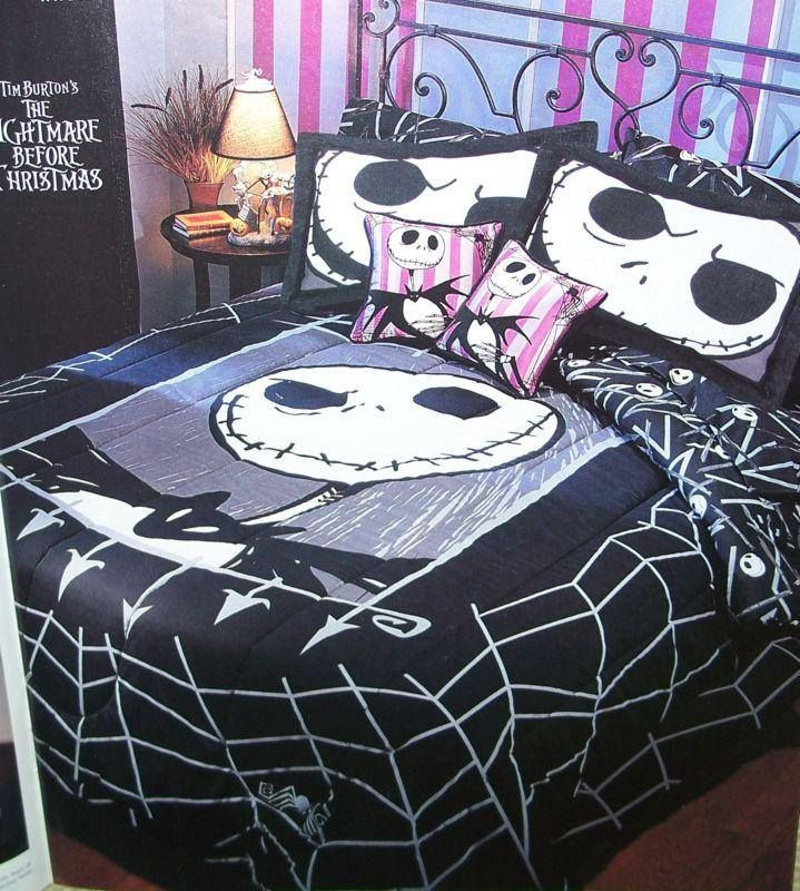 Nightmare Before Christmas Bedding Full Queen Comforter Cover & Sheet ...