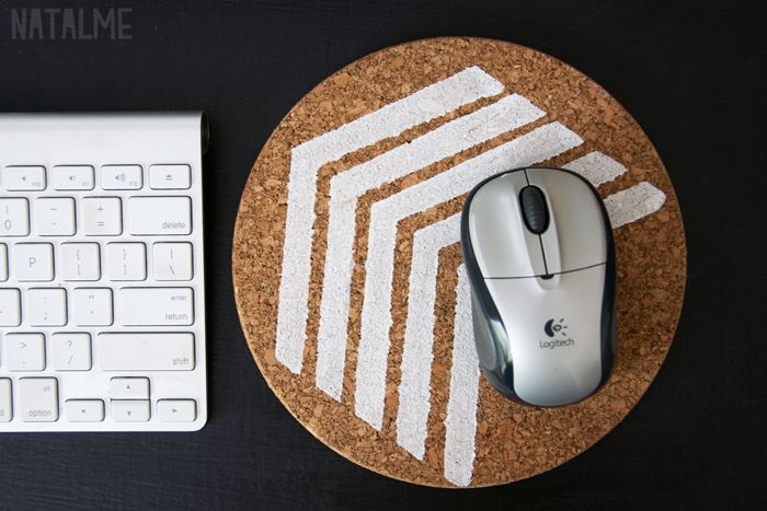 Stenciled Trivet Mousepad kan ik op de eettafel laten liggen