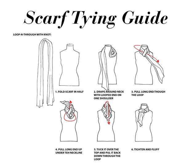 scarf tying guide