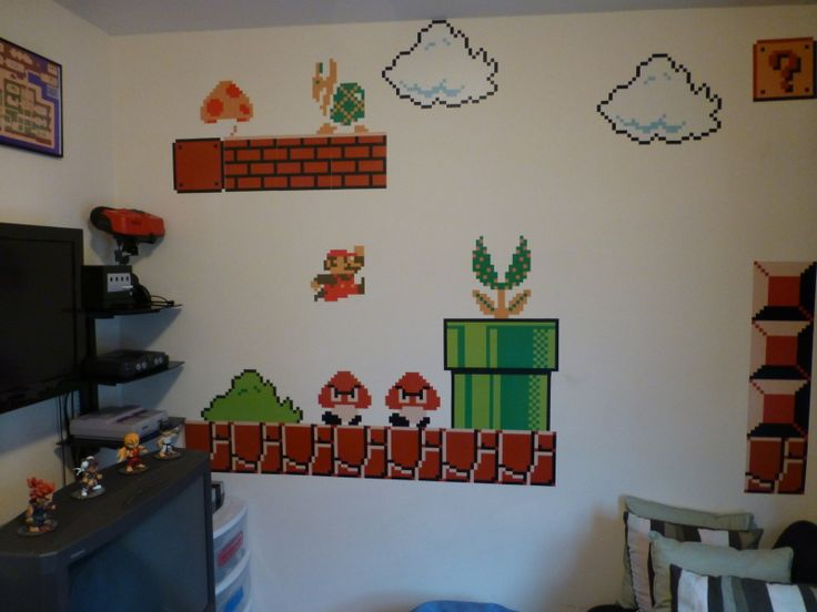 My video game room mancave ideas pinterest for Room painting games