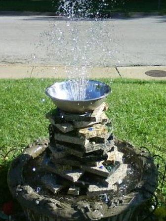 Homemade Water Fountain Garden Pinterest