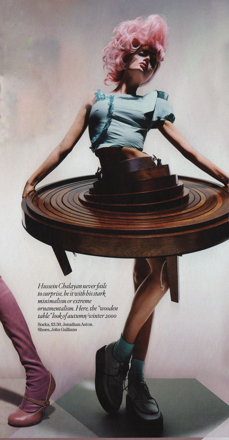 Hussein Chalayan Table Dress Furniture Clothing Pinterest