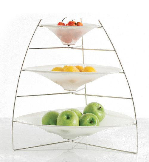 Chilewich three tier ray tray raw kitchen pinterest - Tiered fruit bowl ...