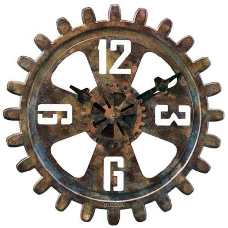 bulova motion 18 round wall clock