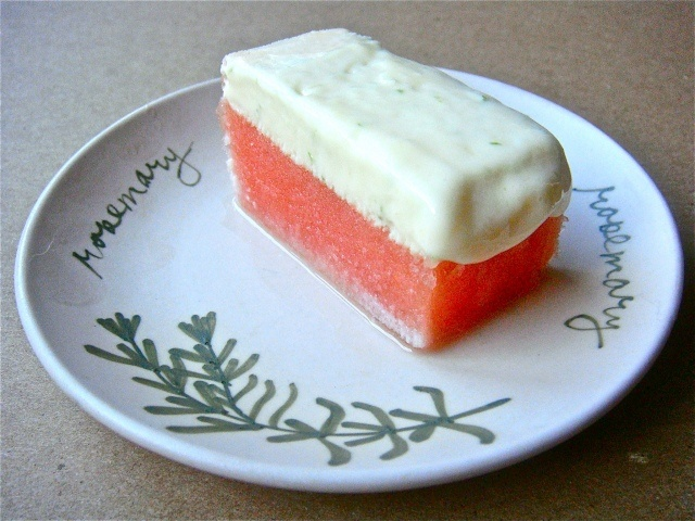 Frozen Watermelon Lime Bars ~ Perfect treat on a hot Summer day!