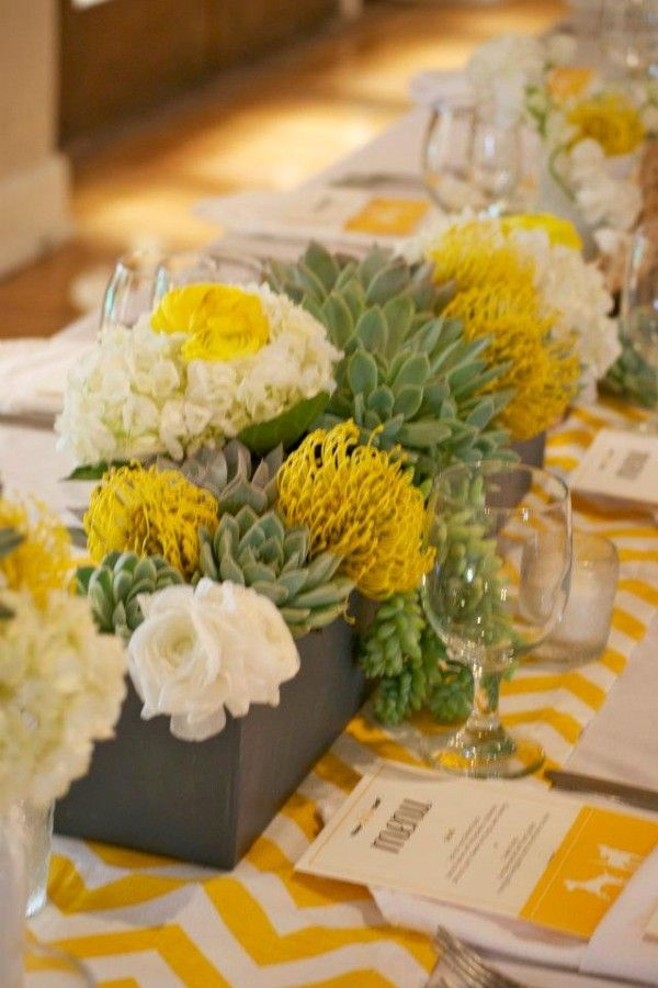 Modern moments event planning wedding ideas pinterest - Red and yellow centerpieces ...