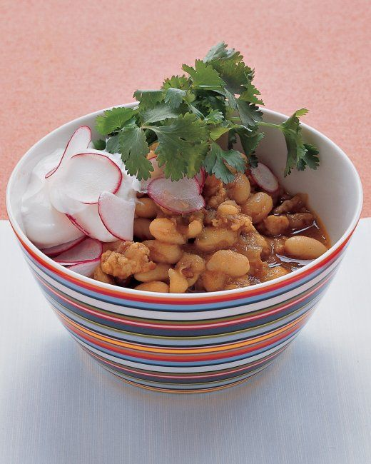 Turkey and White-Bean Chili - Really good! I added a can of Rotel ...