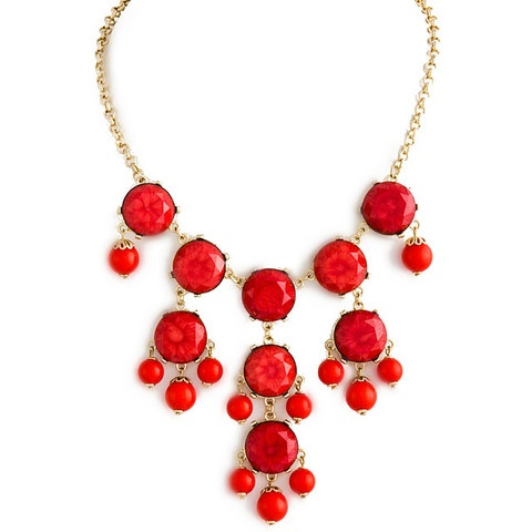 RED ROYAL OAKS NECKLACE