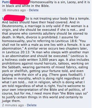 Impressive, informed statement on homosexuality and the bible - Yes, yes. yes!