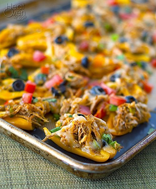 Nachos on Bell Peppers: nachos without the fried chips. Indulge ...