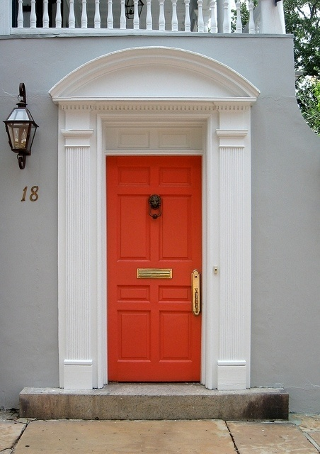 Orange Door For The Home Pinterest