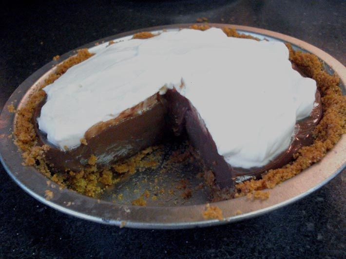Chocolate Cream Pie---made this as pudding for the hubby...was a big ...