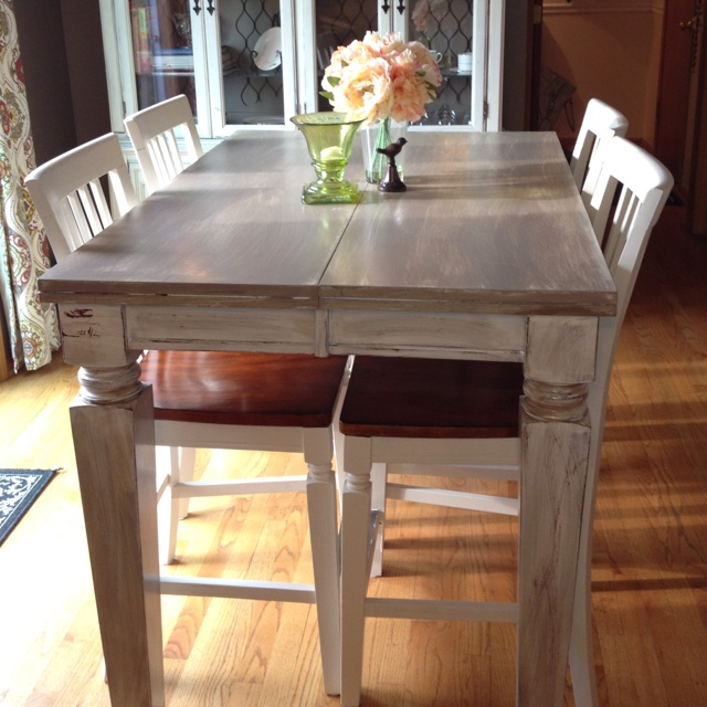 Diy distressed kitchen table kitchen pinterest for Kitchen table designs diy