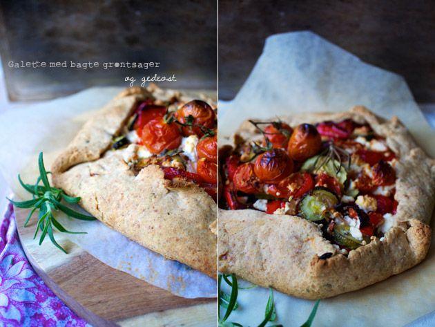 galette med bagt grønt og gedeost | Things i adore | Pinterest