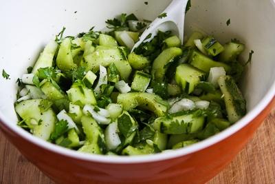 ... Kitchen: Asian Cucumber Salad Recipe with Cilantro and Vidalia Onions