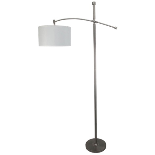 zoomed allen roth 67 brushed steel floor lamp with off white shade. Black Bedroom Furniture Sets. Home Design Ideas