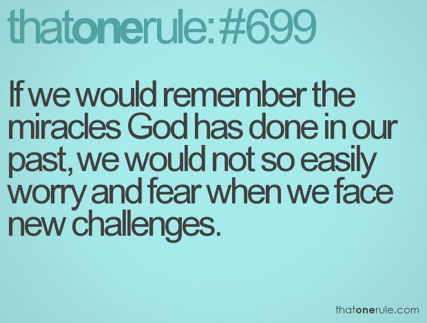 Trust God! :)