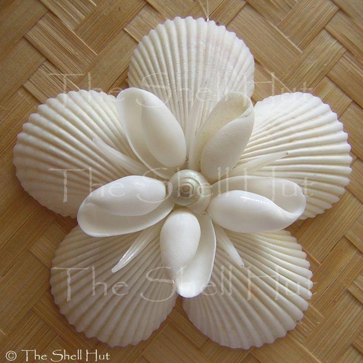 Seashell snowflake christmas ornament star shell flower - Shell decorations how to make ...