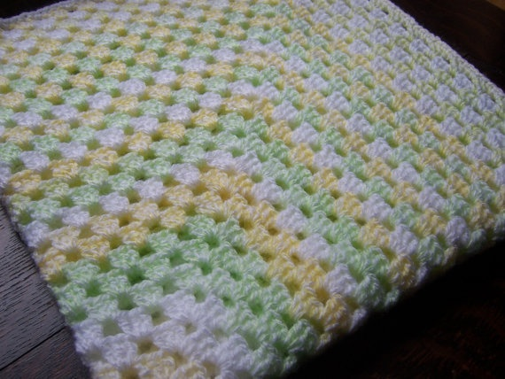 Free Crochet Pattern For Granny Square Baby Blanket : Pinterest