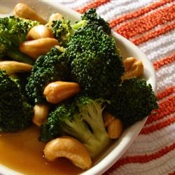 Broccoli with Garlic Butter and Cashews. Had this last night...so good ...