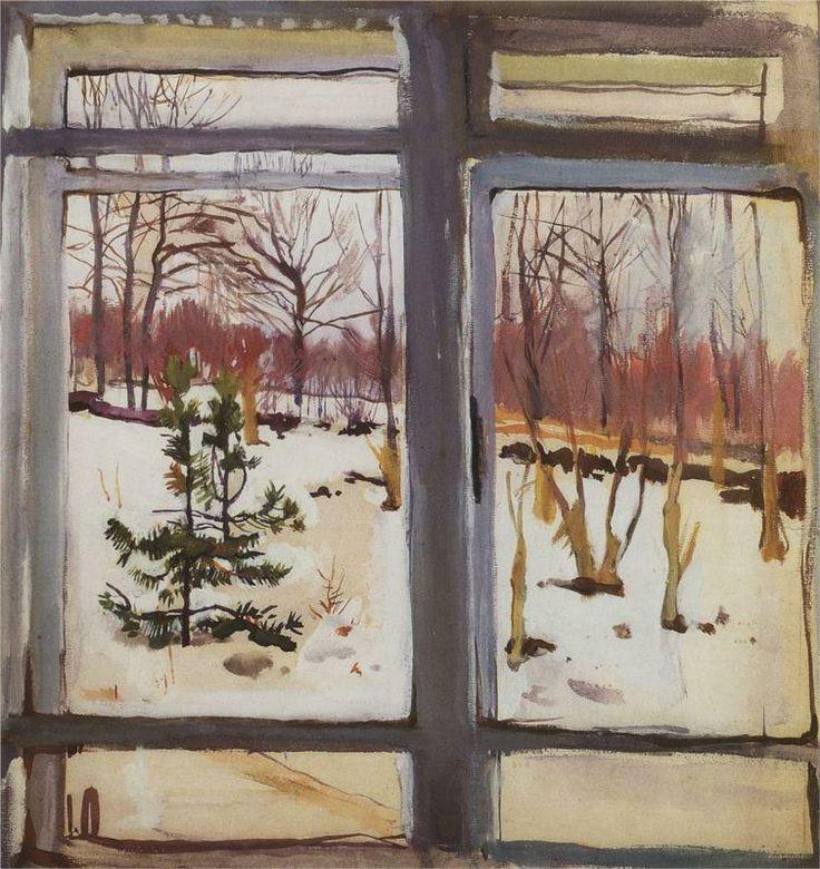 """Window"" by Zinaida Serebriakova, 1910"