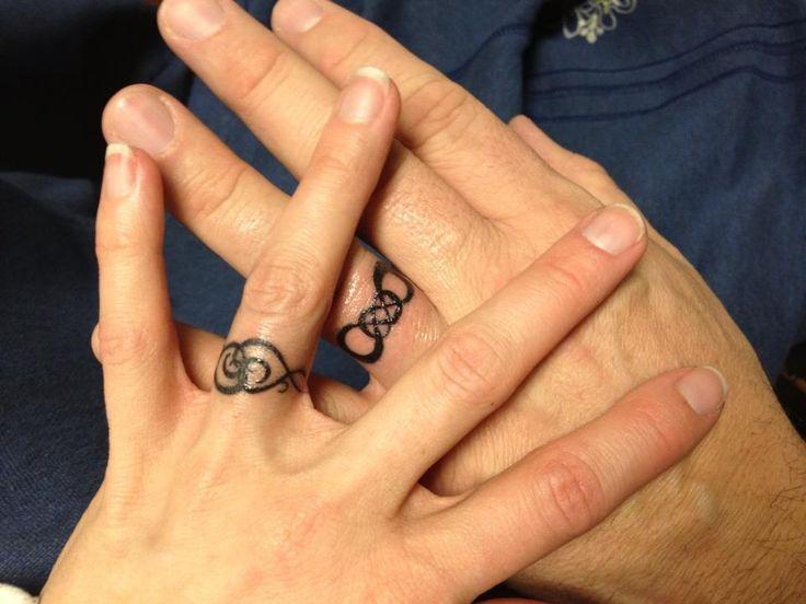 Infinity Wedding Ring Tattoos Body Art Pinterest