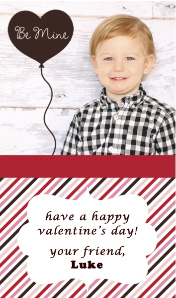 valentine's day mini card template