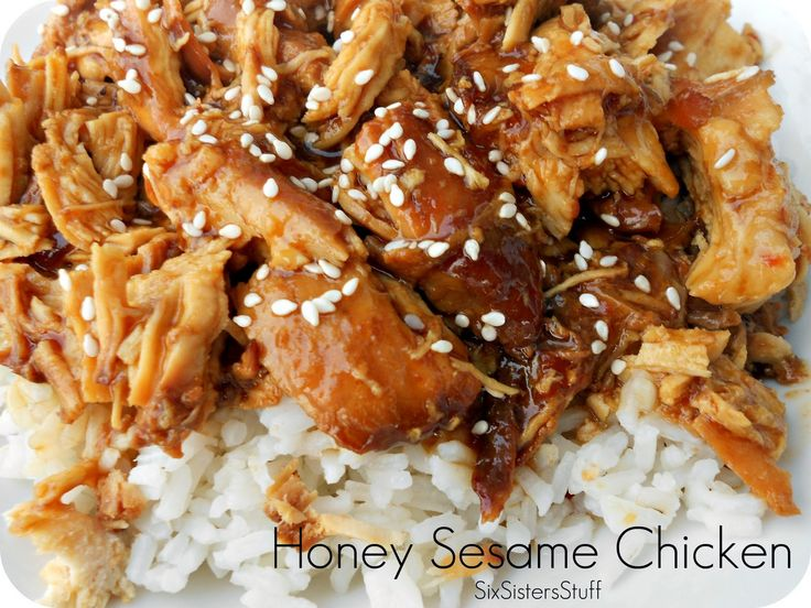 Slow Cooker Honey Sesame Chicken Recipe. Fast, Easy and so Delicious!  Making it tonight. I'll let you know!