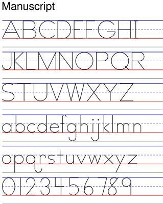 manuscript- Zaner-Bloser | ABC Ideas | Pinterest