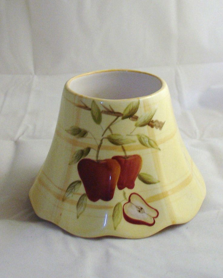 Home interiors apple jar candle lamp shade nuc