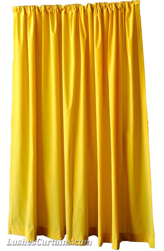 Yellow Flock Velvet Curtain Panel. | Lushes Curtains | Pinterest