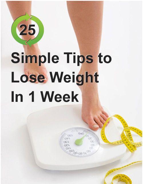 Tips to lose weight in 1 week zwanger