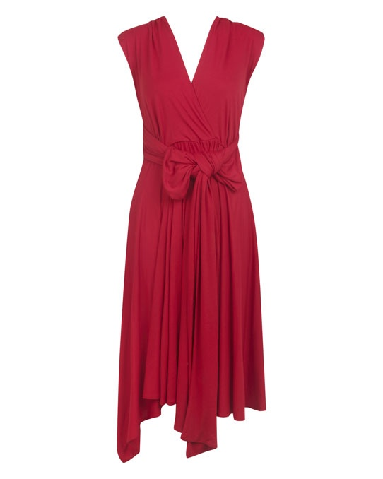 Multiway Dress in berry red
