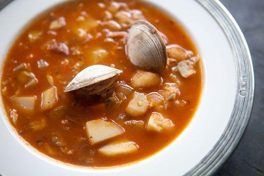 Manhattan clam chowder