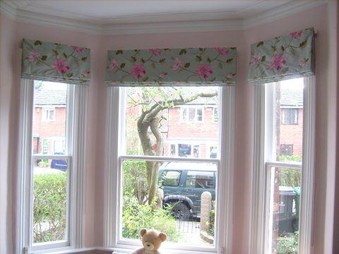 Bay window treatment ideas home pinterest for Ideas for bay window treatments