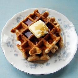 Cinnamon sugar waffles, great for a grab-and-go breakfast.