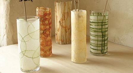 Candelabros o floreros de vidrio
