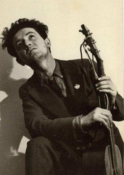 Woody Guthrie, NYC, 1943  photo: Eric Schaal, LIFE
