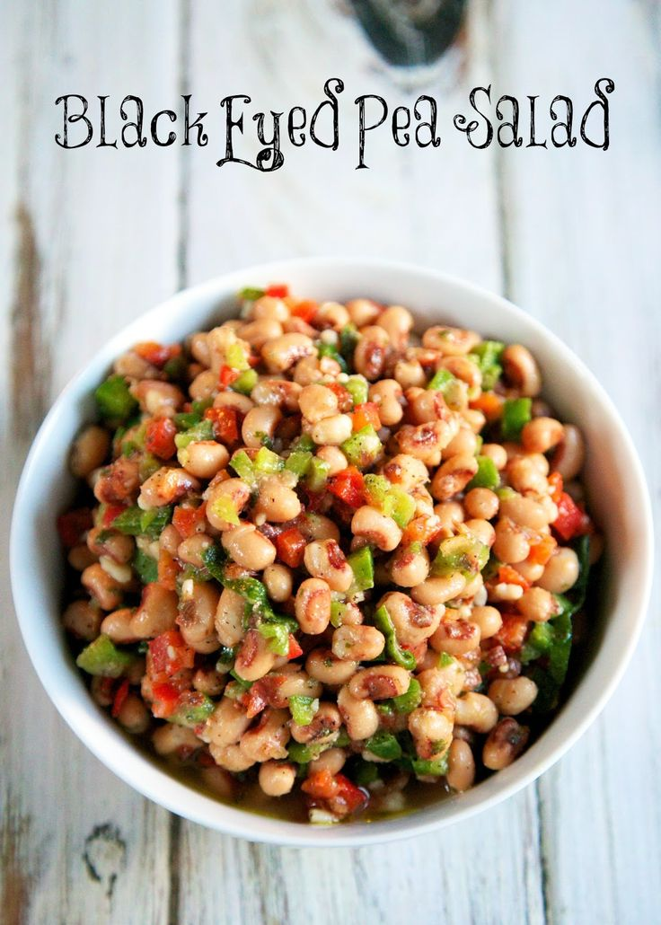 Black Eyed Pea Salad - great summer side dish! Also makes a great dip ...