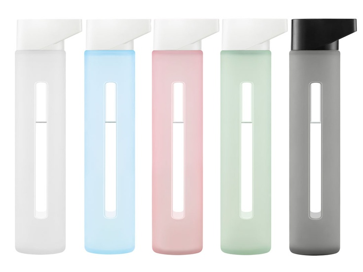Glass & Silicone Sleeve Water Bottle by Takeya
