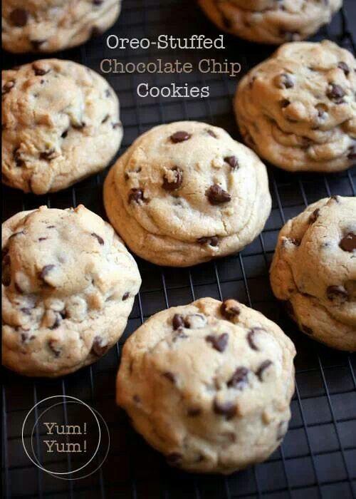Oreo stuffed chocolate chip cookies   Sweets   Pinterest