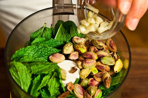 mint pistachio pesto recipe on food52 mint pistachio pesto recipe on ...